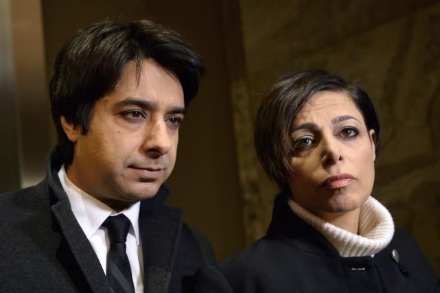Jian Ghomeshi et son avocate,Marie Henein... (THE CANADIAN PRESS)