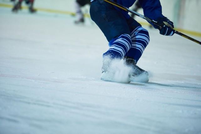 Deux hockeyeurs de la région ont été retenus pour patiner avec les meilleurs... (123RF)