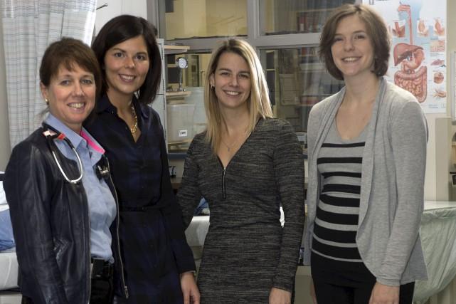 Jacynthe Larouche, Émilie Saint-Onge, Rachel Bourgault, Madeleine Bonneviot... (Le Nouvelliste, Stéphane Lessard)