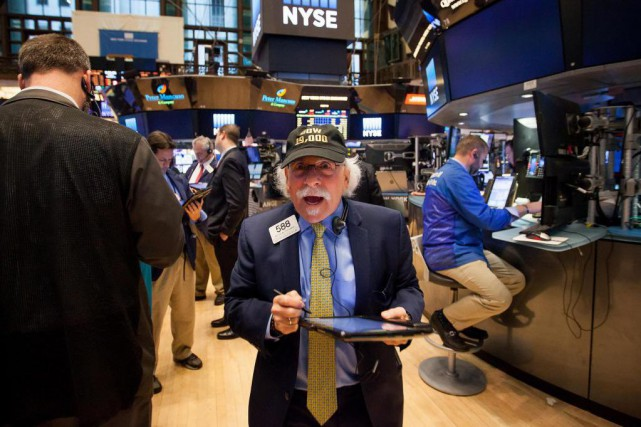 Le Dow Jones a dépassé les 19000 points... (PhotoMichael Nagle, archives Bloomberg)