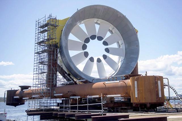 Une turbine, à Pictou, en Nouvelle-Écosse.... (Andrew Vaughan, archives PC)
