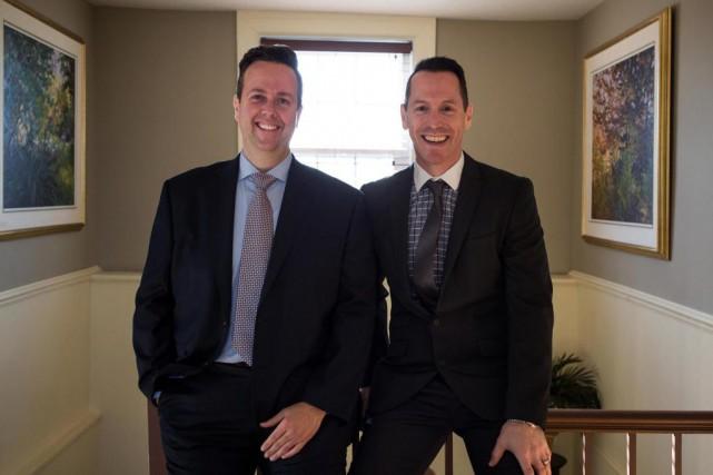 Daniel Langlois (à droite), entrepreneur et promoteur de... (Photo Olivier PontBriand, La Presse)