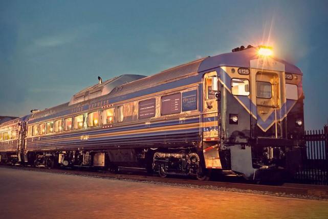 Le train touristique l'Orford Express retourne sur les rails pour une courte... (Photo tirée de Facebook)