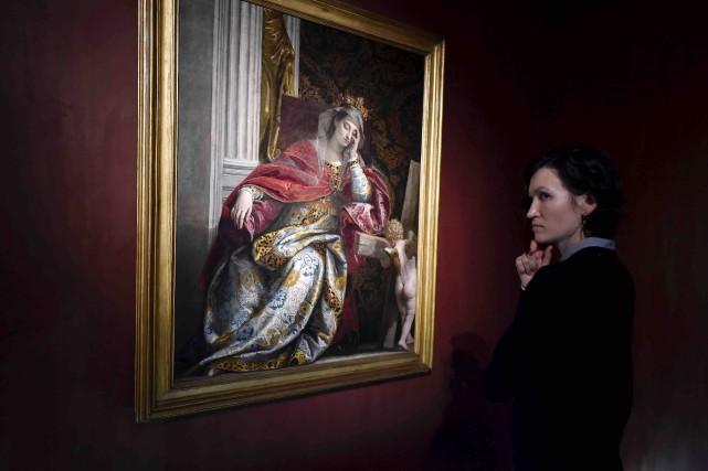 La toile Vision de sainte Hélène de Véronèse... (AFP, Natalia Kolesnikova)
