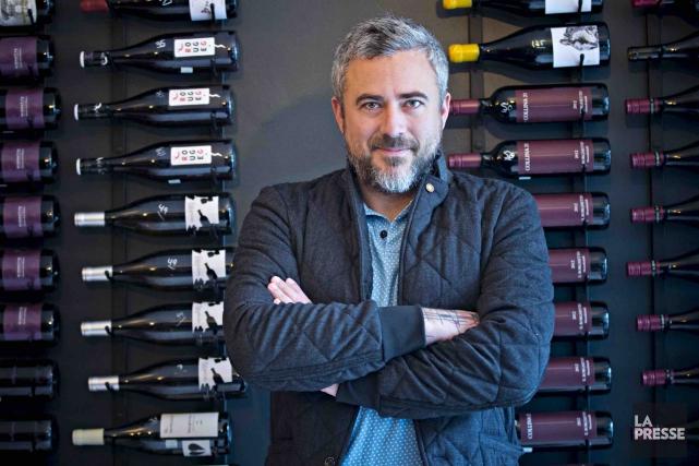 Martin Juneau dans son restaurant montréalaisCul-Sec.... (La Presse, Patrick Sanfaçon)