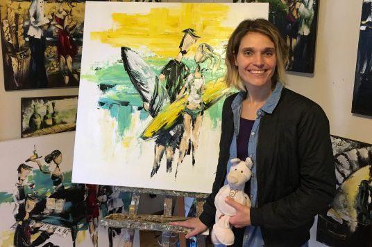 L'artiste-peintre Zabel aimerait amasser 8000 $ pour le...