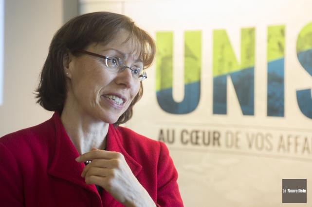 L'économiste principale du Mouvement Desjardins, Joëlle Noreau, a... (Stéphane Lessard, Le Nouvelliste)