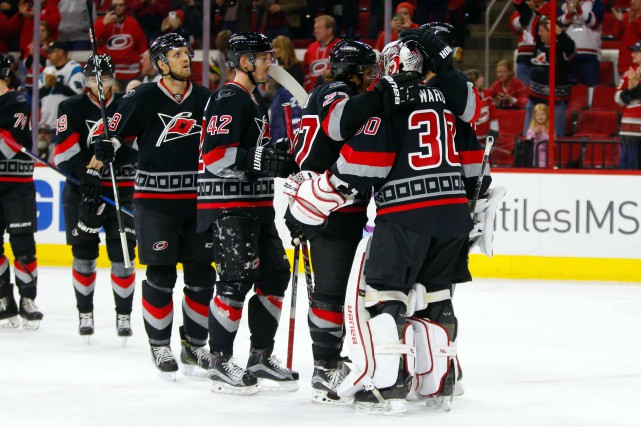 Les Hurricanes de la Caroline ont remporté leurs... (Photo James Guillory, USA Today Sports)
