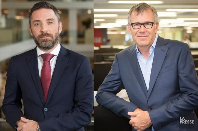 Pierre-Elliott Levasseur (à gauche) etGuy Crevier.... (photos la presse)