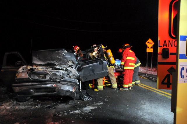 La violente collision a eu lieu mercredi soir,...