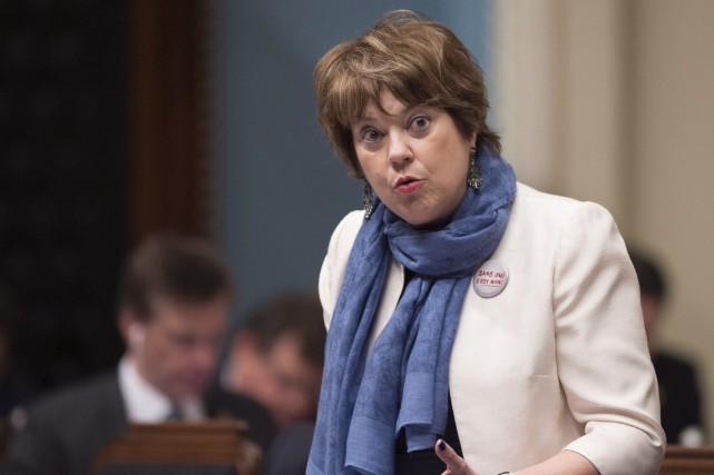 La ministre de l'Enseignement supérieur, Hélène David... (PHOTO ARCHIVES LA PRESSE CANADIENNE)