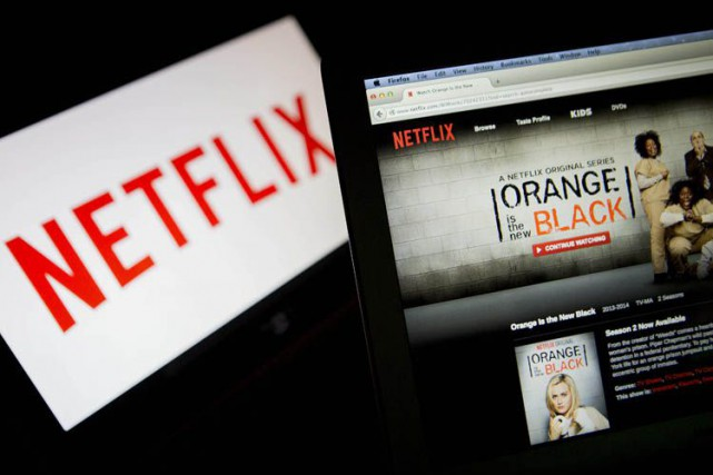 Netflix investit de manière «substantielle» dans des productions... (PHOTO ARCHIVES BLOOMBERG)