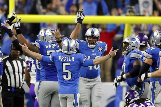 Matt Prater adonné la victoire aux siens pour... (PHOTO Paul Sancya, AP)