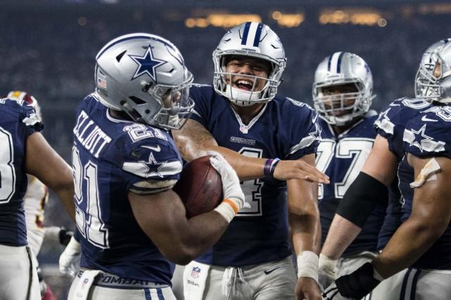 Ezekiel Elliott est le meneur de la NFL... (Jerome Miron, USA Today Sports)