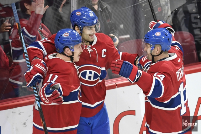 Max Pacioretty (au centre) a marqué le but... (La Presse)