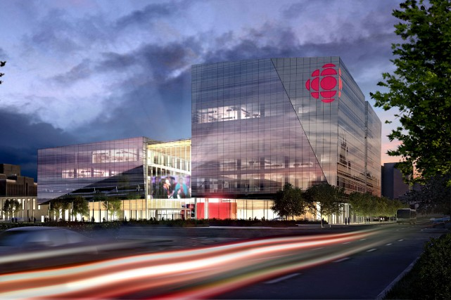 La nouvelle Maison de Radio-Canada sera construite à... (ILLUSTRATION FOURNIE PAR RADIO-CANADA)
