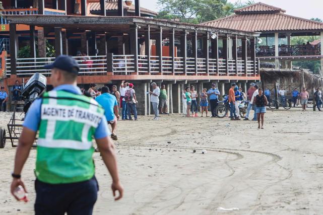Un tsunami menaçant les villages côtiers du Nicaragua... (AFP, Alfredo Zuniga)