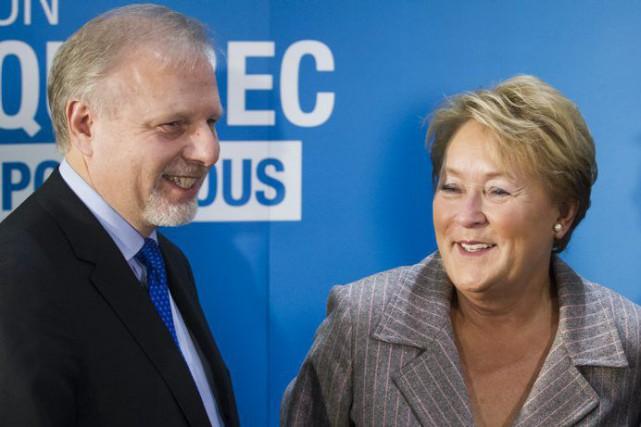 Jean-François Lisée et Pauline Marois... (Photothèque Le Soleil)