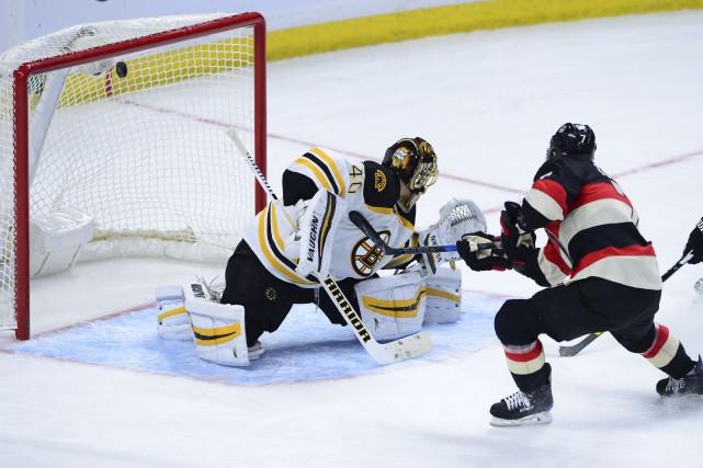 Kyle Turris a marqué son neuvième but de... (La Presse canadienne)