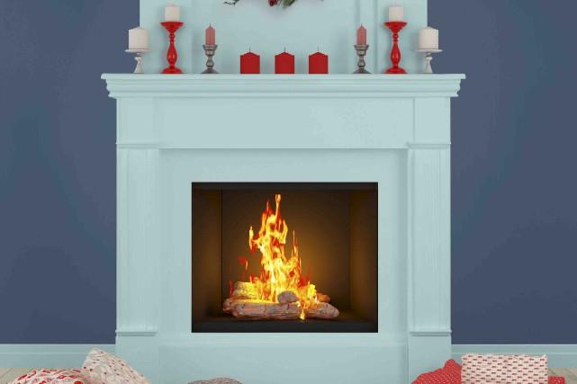 Le manteau de cette cheminée a été peint... (Fournie par Sico)