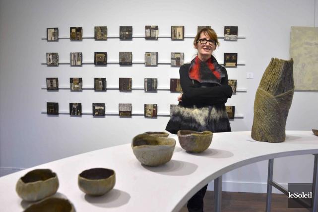 La céramiste Myriam Bouchard aime les créations sculpturales,... (Le Soleil, Jean-Marie Villeneuve)