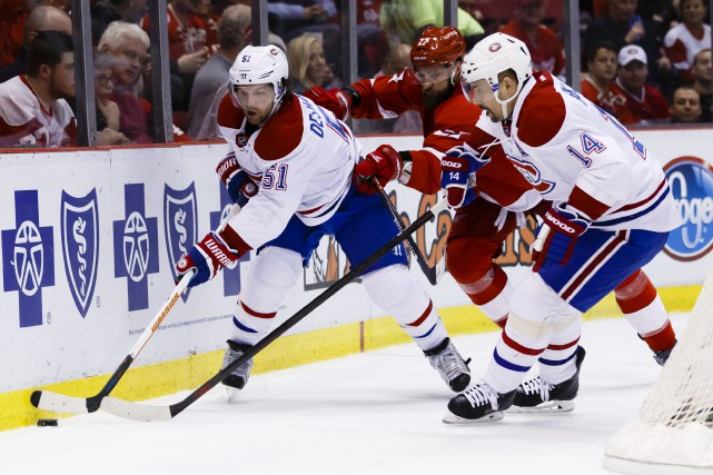Relisez le clavardage du match Canadien-Red Wings avec notre journaliste... (Photo archives USA Today Sports)