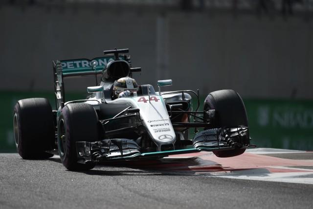 Hamilton a devancé Rosberg de .079 seconde lors... (AFP)