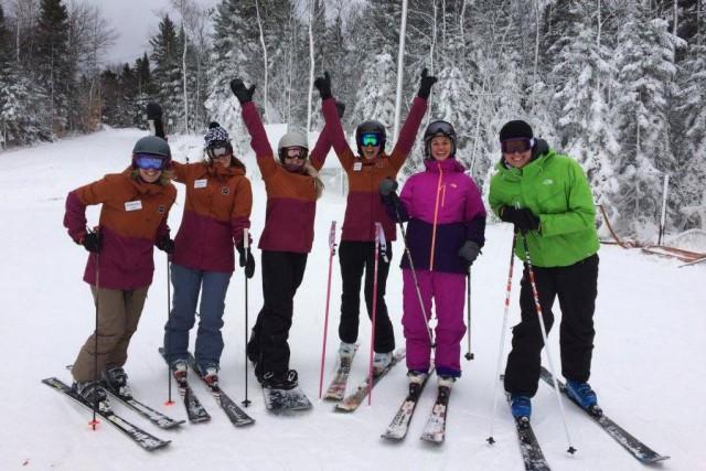 C'est fait. On skie déjà à Saint-Sauveur et... (Photo tirée de la page Facebook Des Sommets)