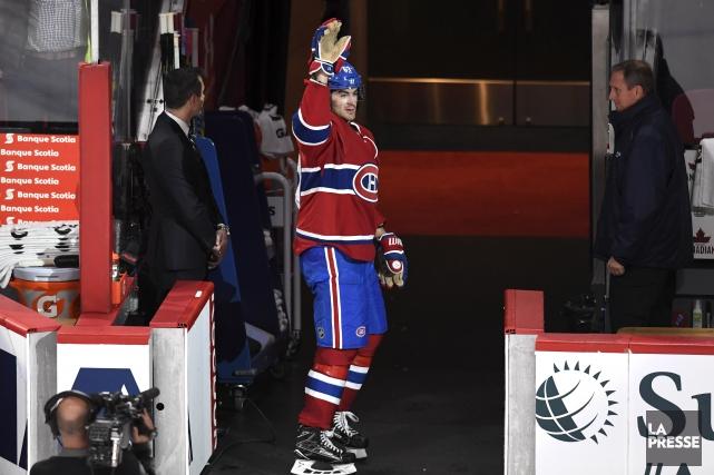 Max Pacioretty n'est pas descendu sur la patinoire... (La Presse, Bernard Brault)