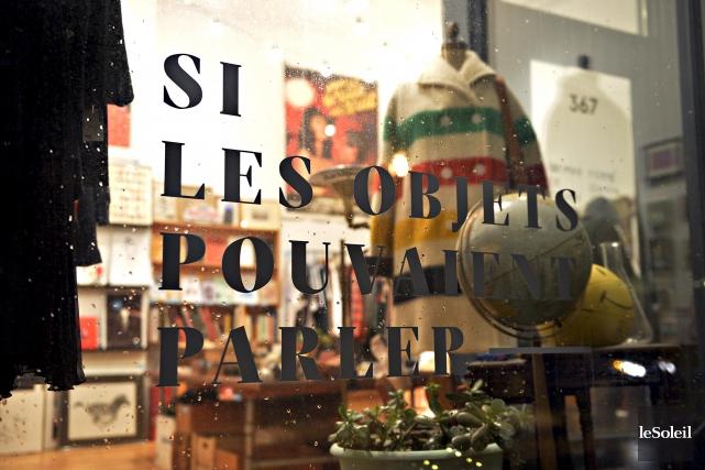 Ouverte en 2014, la boutique Si les objets... (Le Soleil, Pascal Ratthé)