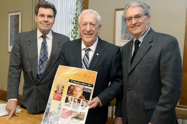 Arthur Bonneau, Marc-André Bédard et Roger Tremblay invitent... (Photo Le Progrès-Dimanche, Jeannot Lévesque)