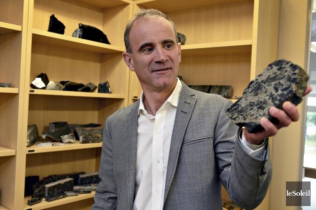 André Gaumond, fondateur de Mines Virginia, prend sa... (Le Soleil, Patrice Laroche)