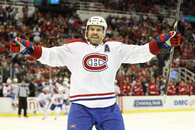Shea Weber a frappé le poteau pendant la... (Photo USA Today Sports)