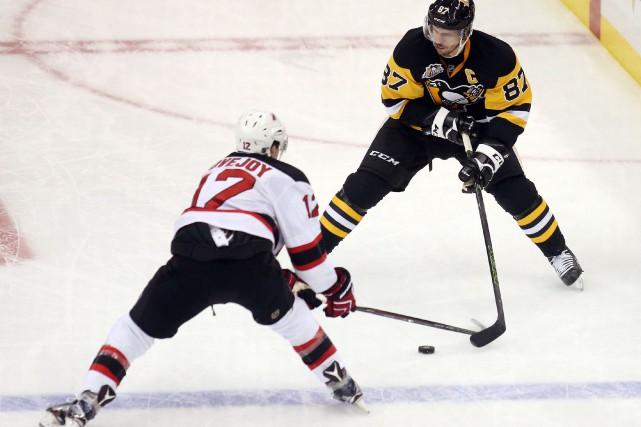 Sidney Crosby a créé l'égalité avec 14 secondes à faire en troisième période,... (Photo USA Today Sports)
