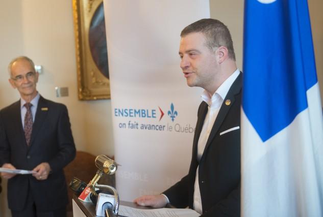 Le député de Sherbrooke, Luc Fortin... (Spectre Média, Julien Chamberland)