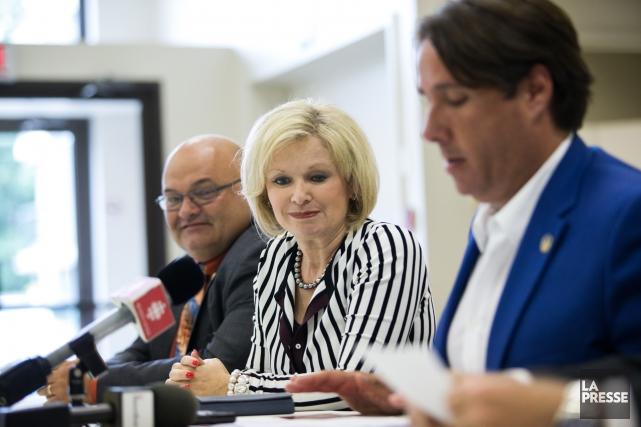 Les députés Pierre Giguère, Julie Boulet et Marc... (Olivier Croteau)