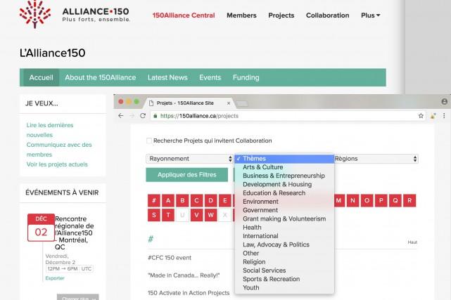 Dans cette capture d'écran du site internet de...