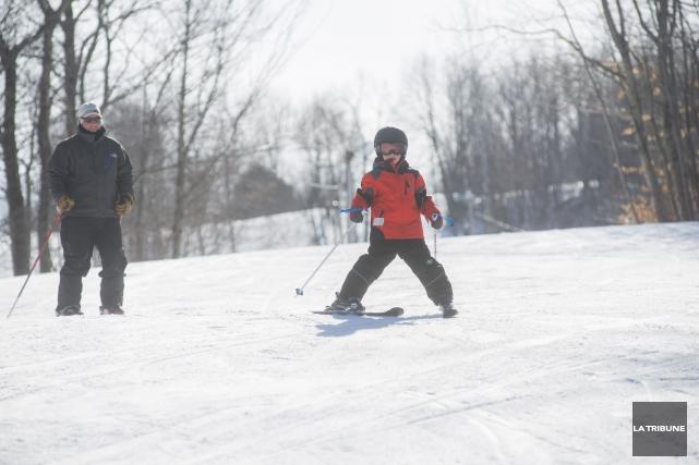 La basse de fréquentation des stations de ski... (Archives La Tribune, Julien Chamberland)