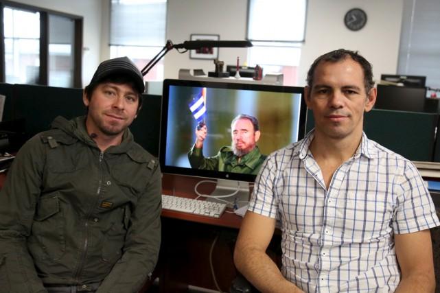 Deux Granbyens d'origine cubaine, Eric Hidalgo Rodriguez et... (Julie Catudal)