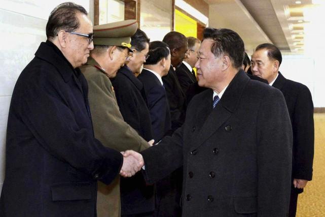 Choe Ryong Hae, le vice-président nord-coréen du Parti... (AP)
