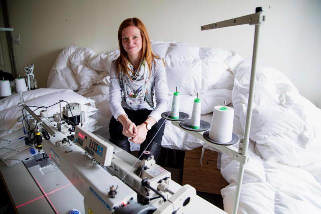 Annie Patenaude a fondé Laduvet Nordique il y... (PHOTO ALAIN ROBERGE, LA PRESSE)
