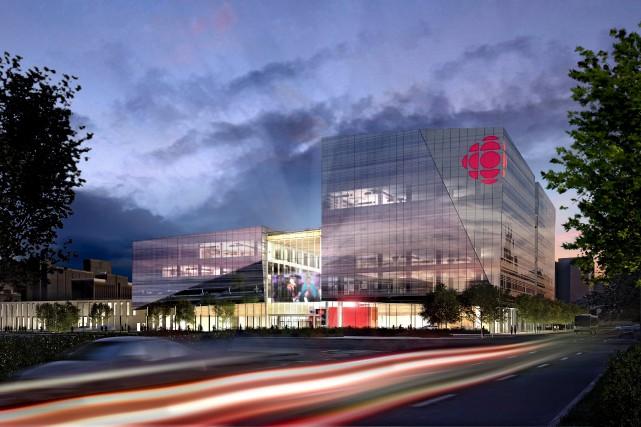 La nouvelle Maison de Radio-Canada, à Montréal, sera... (illustration fournie par Radio-Canada)