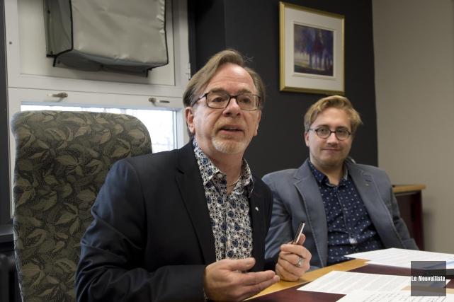 Denis Morin, directeur-conseil en entrepreneuriat à la Commission... (Sylvain Mayer, Le Nouvelliste)