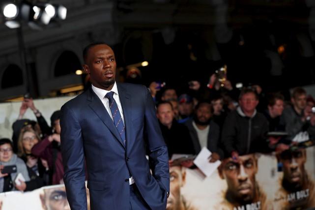 Usain Boltà Londres avant la première deJe suis... (AFP, Adrian Dennis)