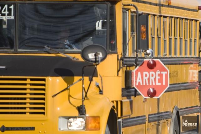 Le transport scolaire est annulé à plusieurs endroits,... (Photo archives La Presse)