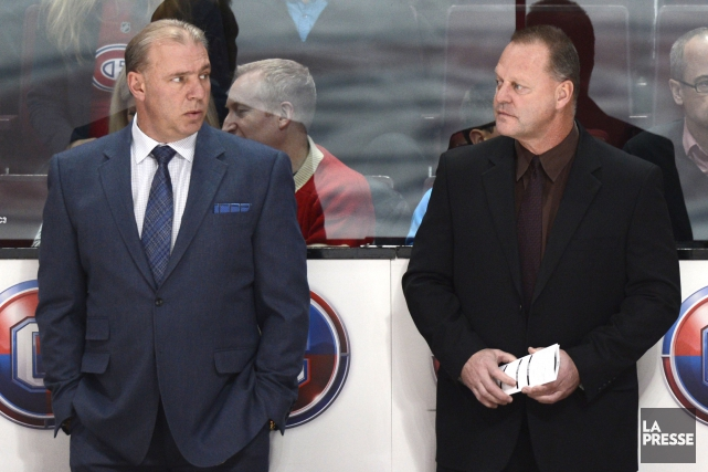 Michel Therrien a eu Gerard Gallant (à droite)... (Photo Bernard Brault, La Presse)