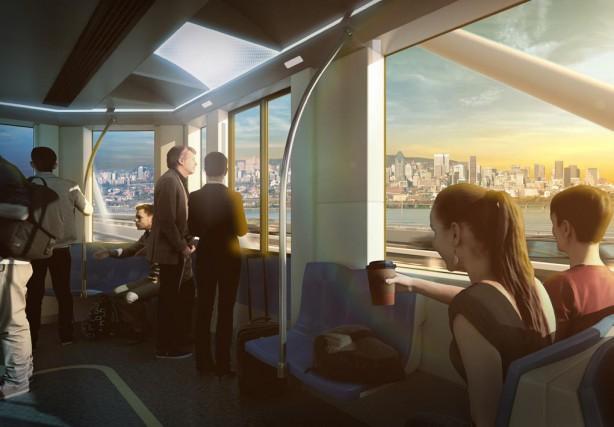 «Le train de banlieue s'est muté en train... (IMAGE FOURNIE PAR LA CAISSE DE DÉPÔT ET PLACEMENT DU QUÉBEC)