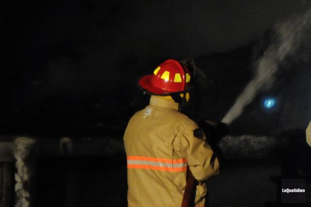 Le feu a débuté vers 14h.... (Archives Le Quotidien)