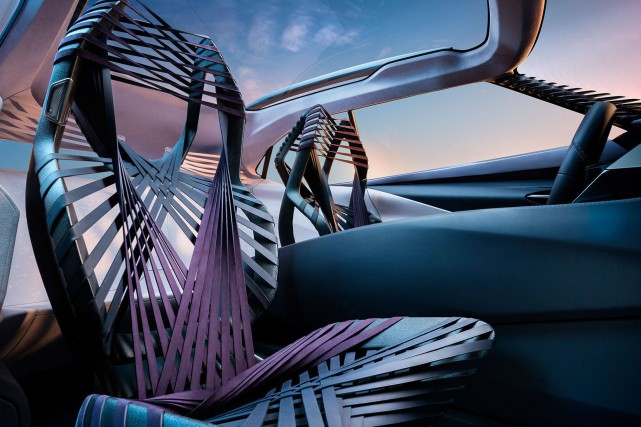 Ce siège est en soie d'araignée transgénique.... (Photo : Lexus)