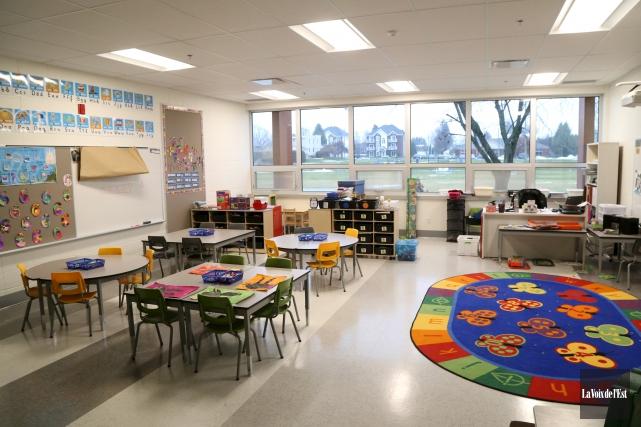 Grâce aux rénovations, l'école Jean-XXIII d'Ange-Gardien ne fait... (Janick Marois, La Voix de l'Est)